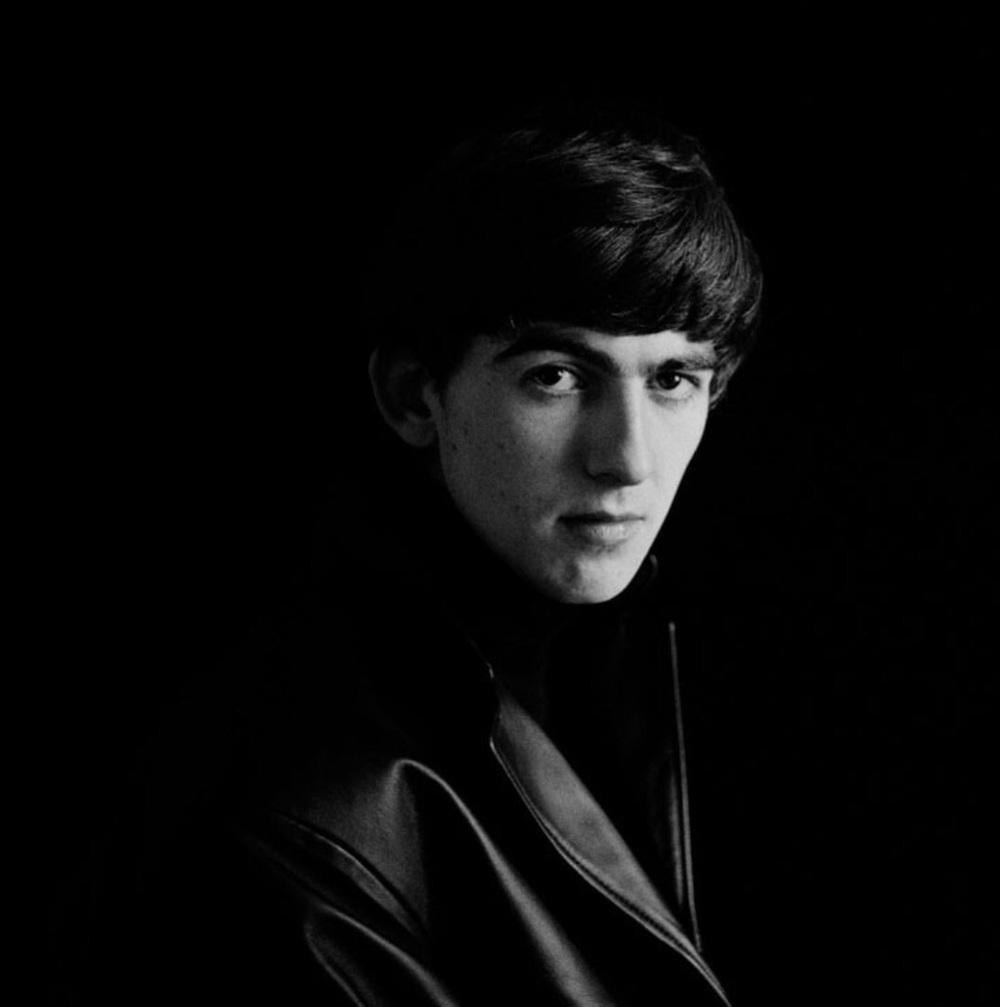 George Harrisonin Hamburg, 1962.Photo by Astrid Kirchherr.