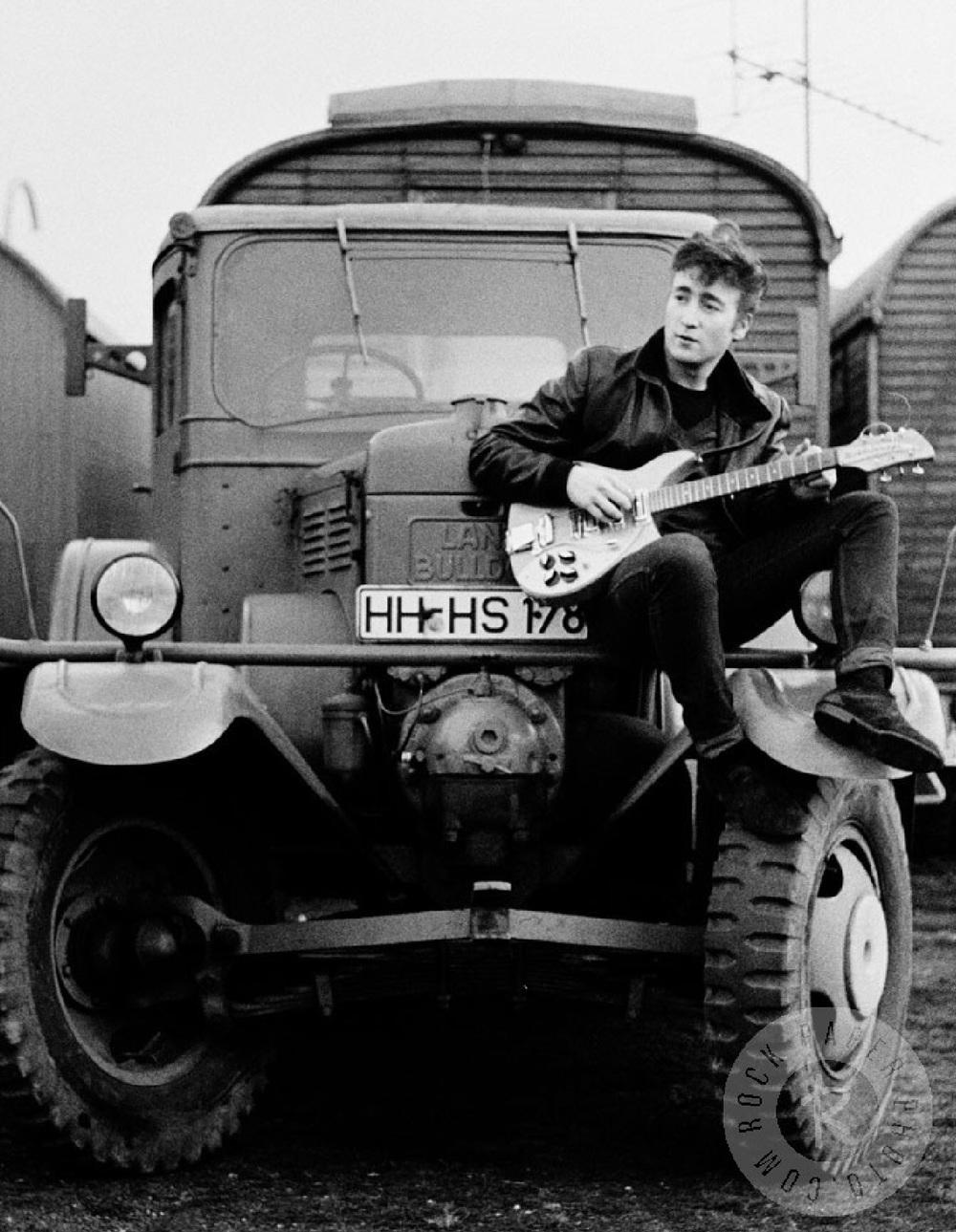 John Lennon in Hamburg, 1960. Photo by Astrid Kirchherr.