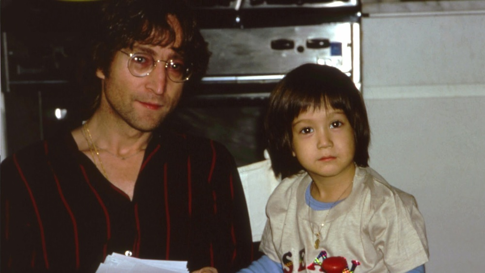 John Lennon with Sean Lennon, circa 1978.
