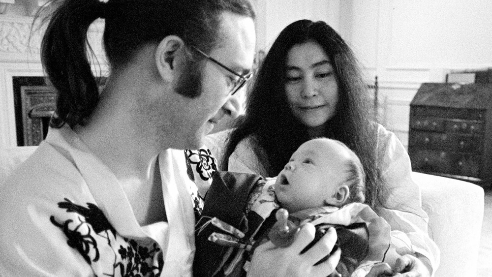 John Lennon and Yoko with Sean Lennon, 1975.