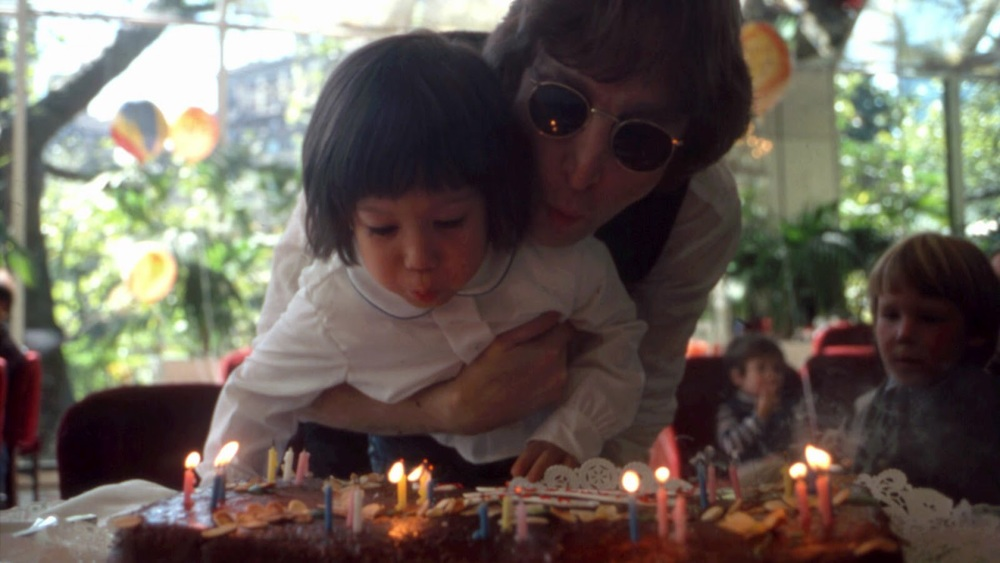 John Lennon with Sean Lennon, 1978.
