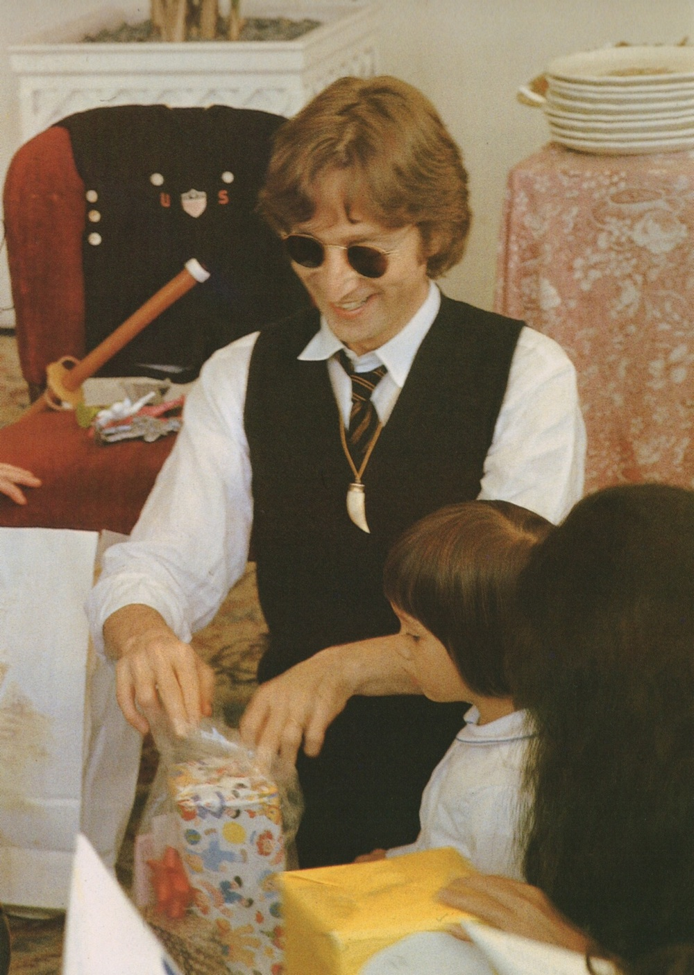 John Lennon and Yoko with Sean Lennon, 1978.