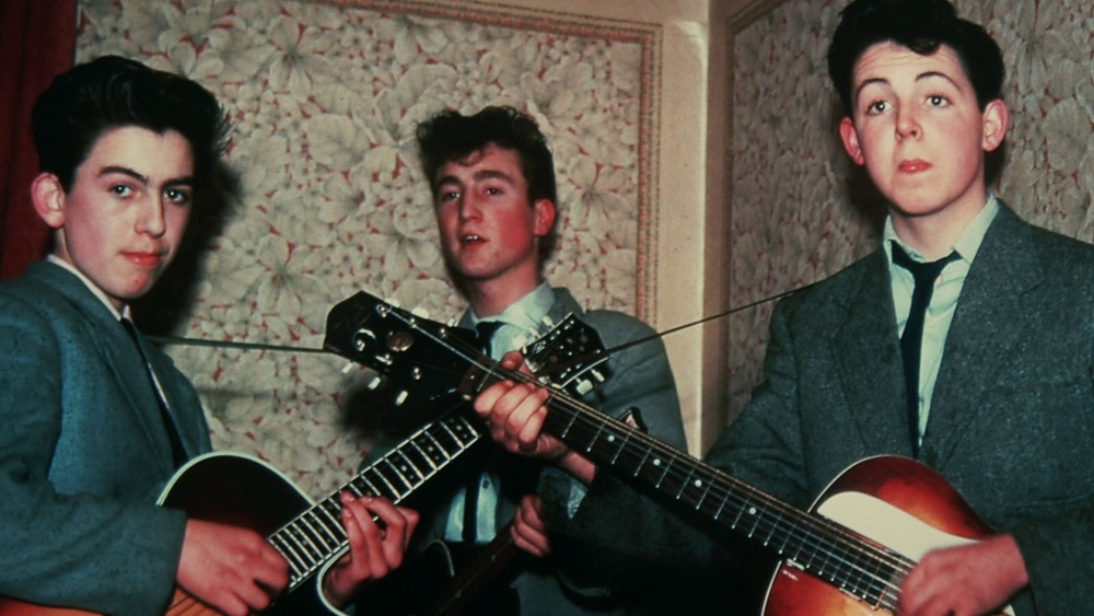 George Harrison, John Lennon and Paul McCartney, circa 1958.