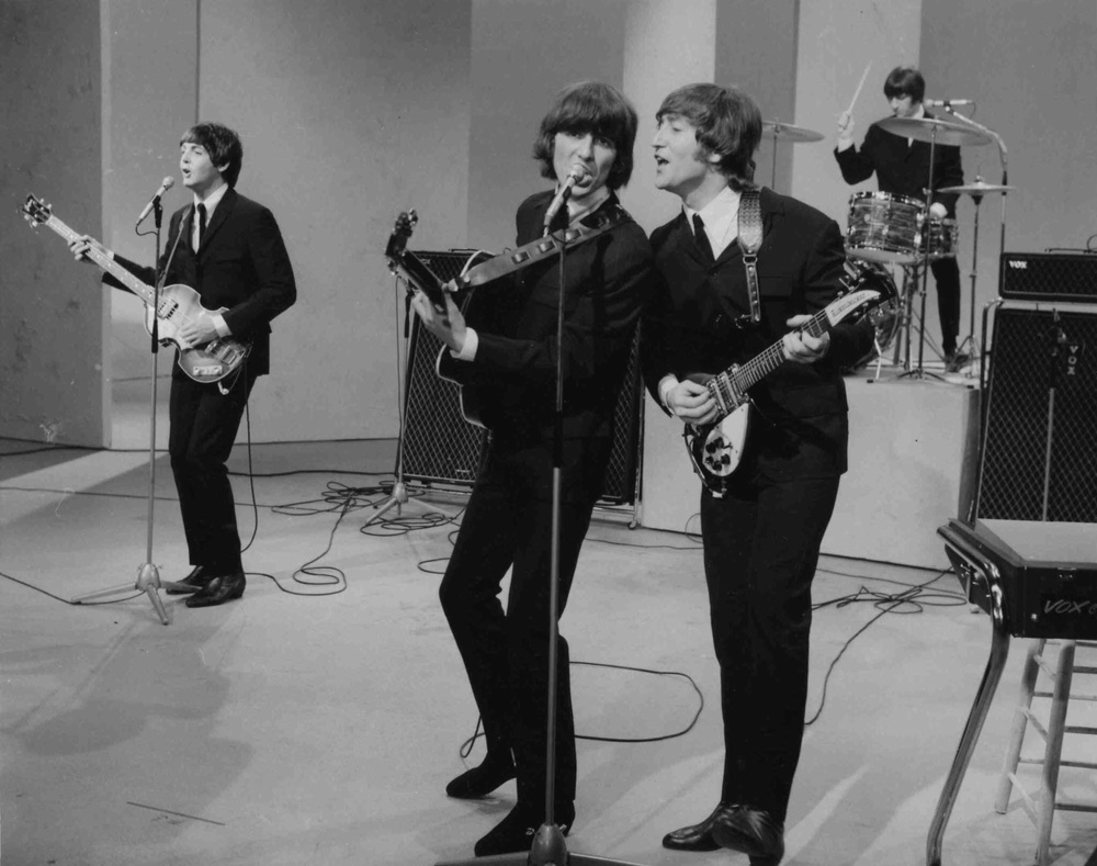 The Beatles on the Ed Sullivan show, August 14th, 1965.