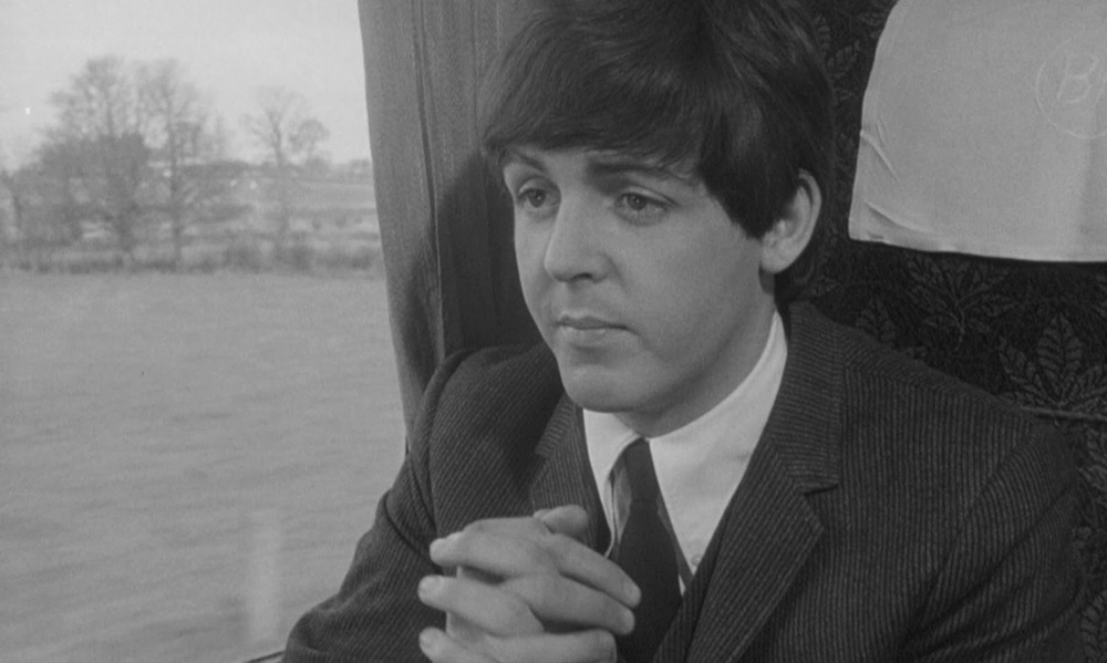 Paul McCartney filming A Hard Day's Night, 1964.