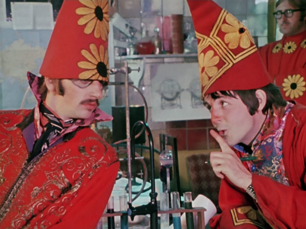 Ringo Starr and Paul McCartney filming Magical Mystery Tour, 1967.