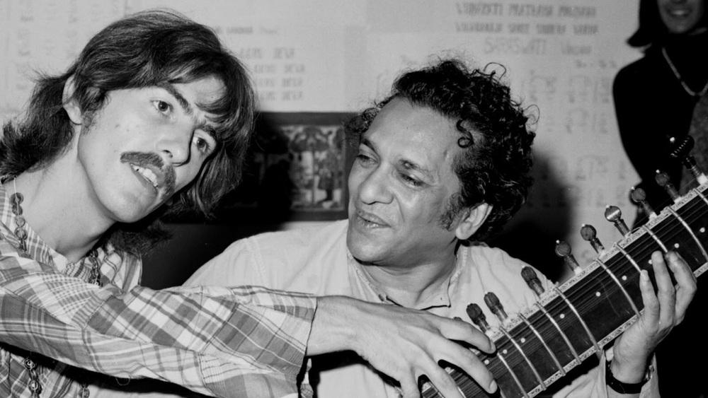 George Harrison and Ravi Shankar, 1967.