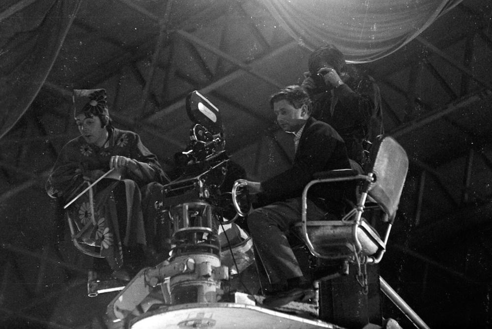 Paul McCartney filming Magical Mystery Tour, 1967.