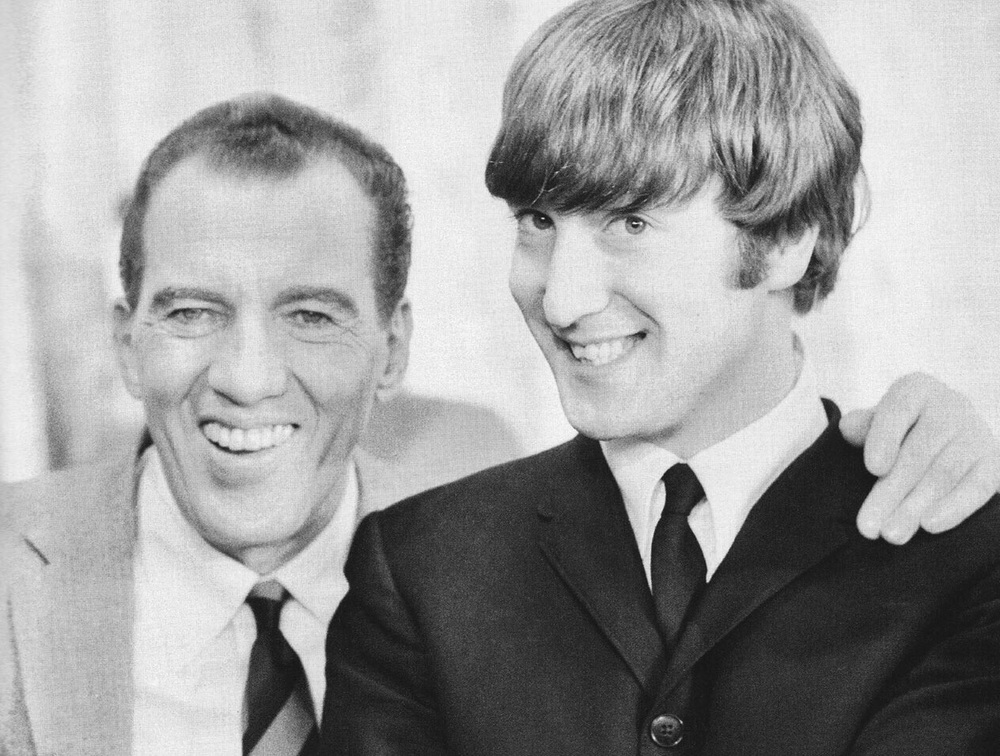 Ed Sullivan with John Lennon, February 1964.