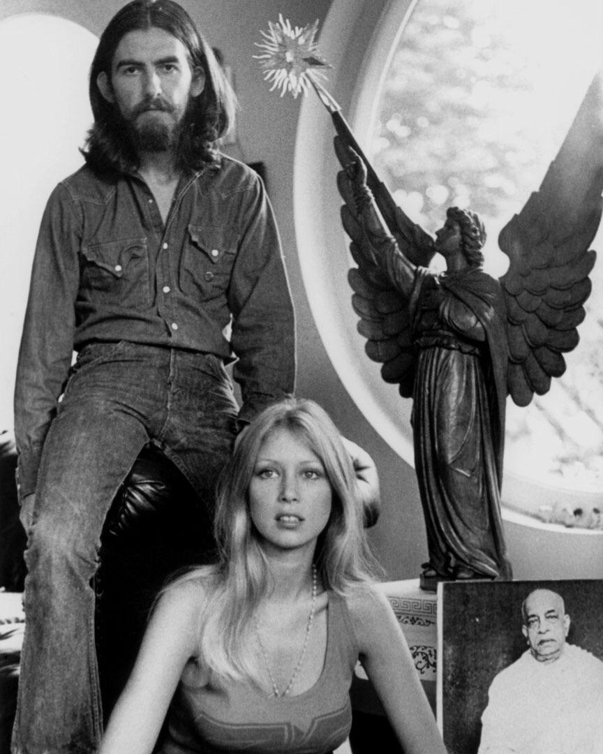 George Harrison and Pattie Boyd, 1970.