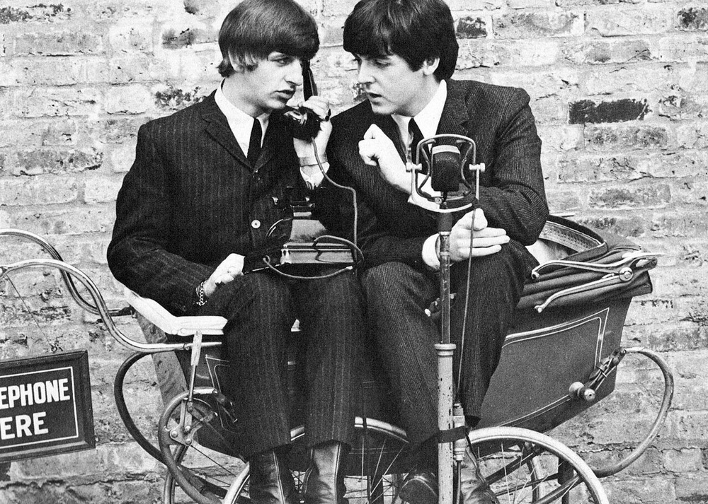 Ringo Starr and Paul McCartney, 1964.