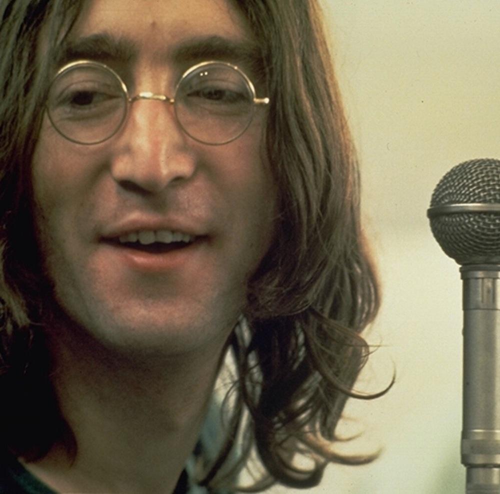 John Lennon recording Let It Be, 1969.