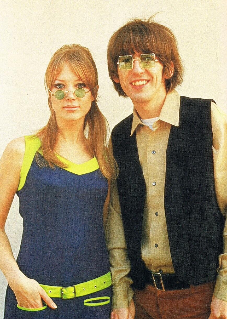 George Harrison and Pattie Boyd, 1966.