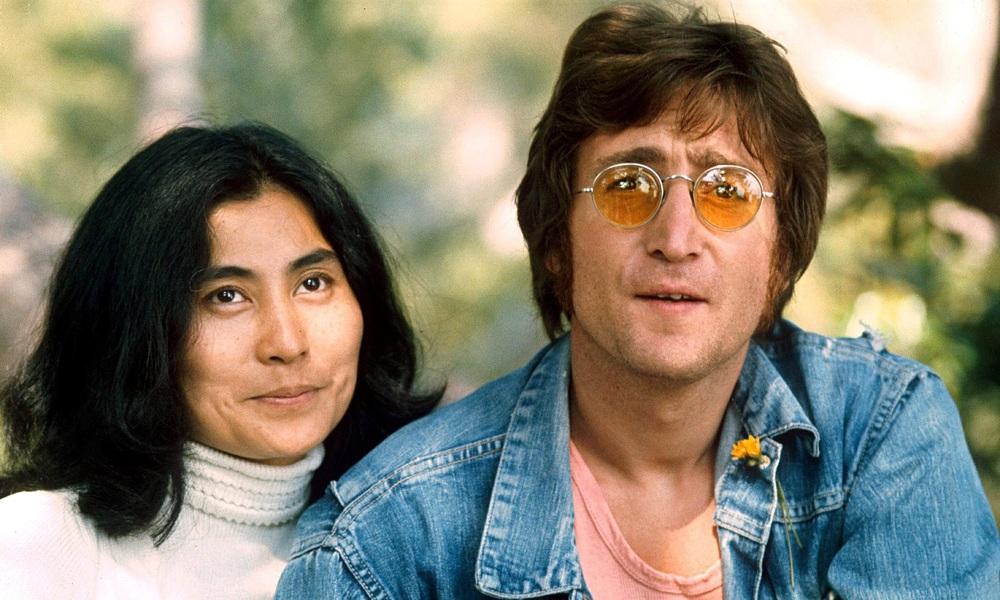 John Lennon and Yoko Ono, 1971.