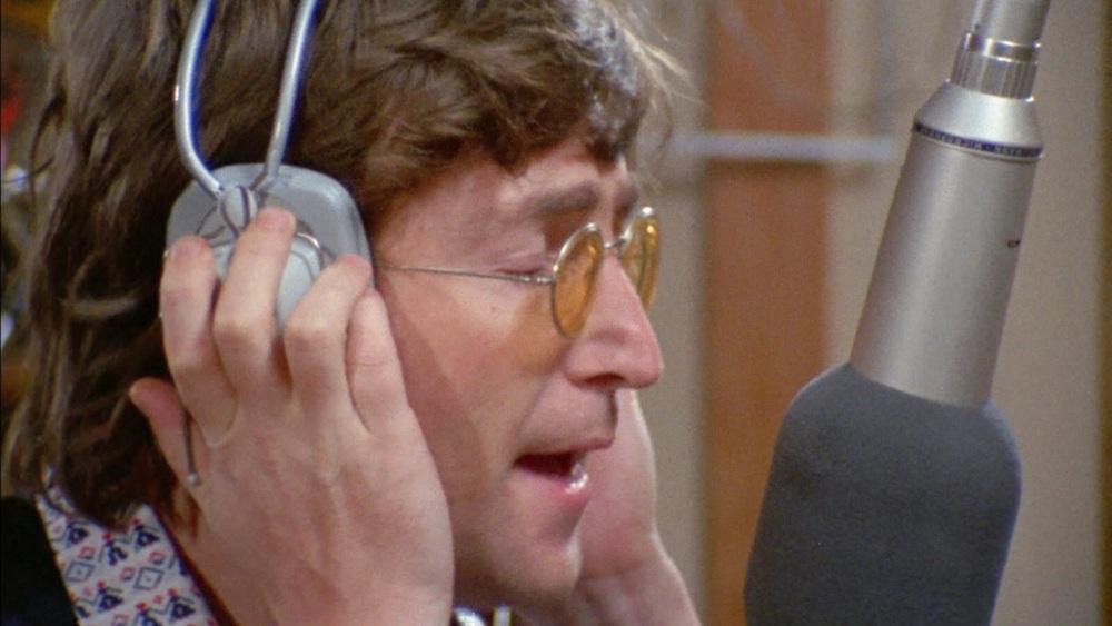 John Lennon recording Imagine, 1971.