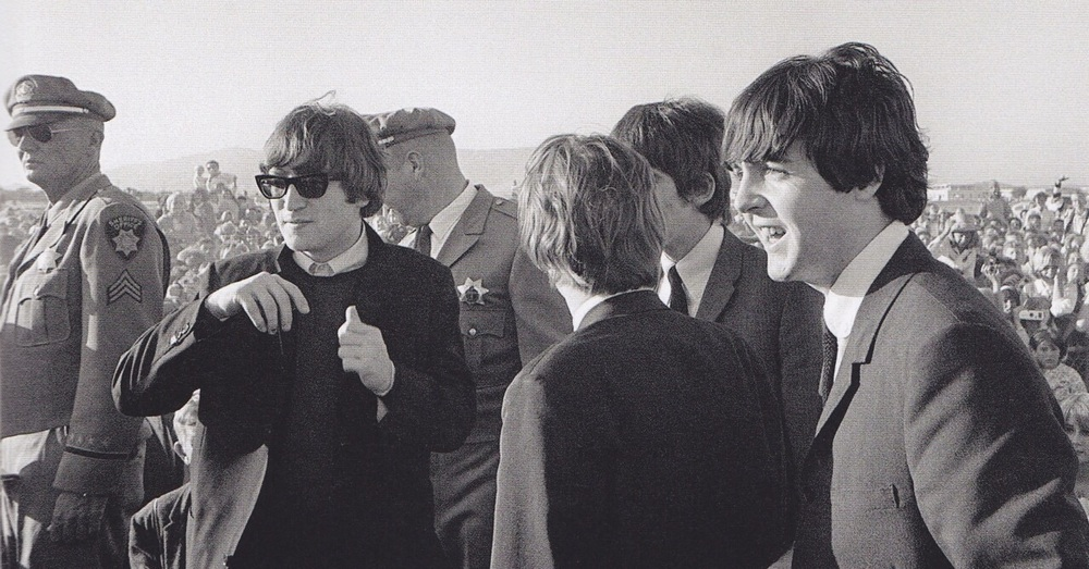 The Beatles arriving at San Francisco Airport, August 18th, 1964