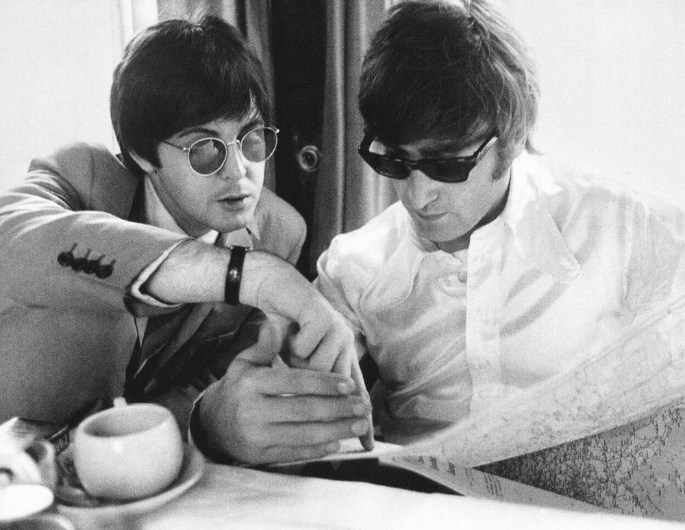 Paul McCartney and John Lennon, 1964.