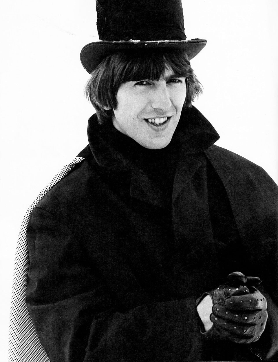 George Harrison   in Obertauern, Austria, March 1965.