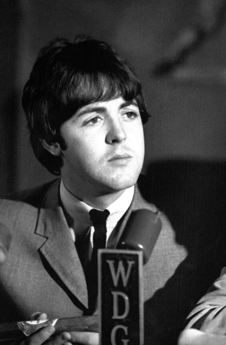 Paul McCartney at a Beatles' press conference, 1965.