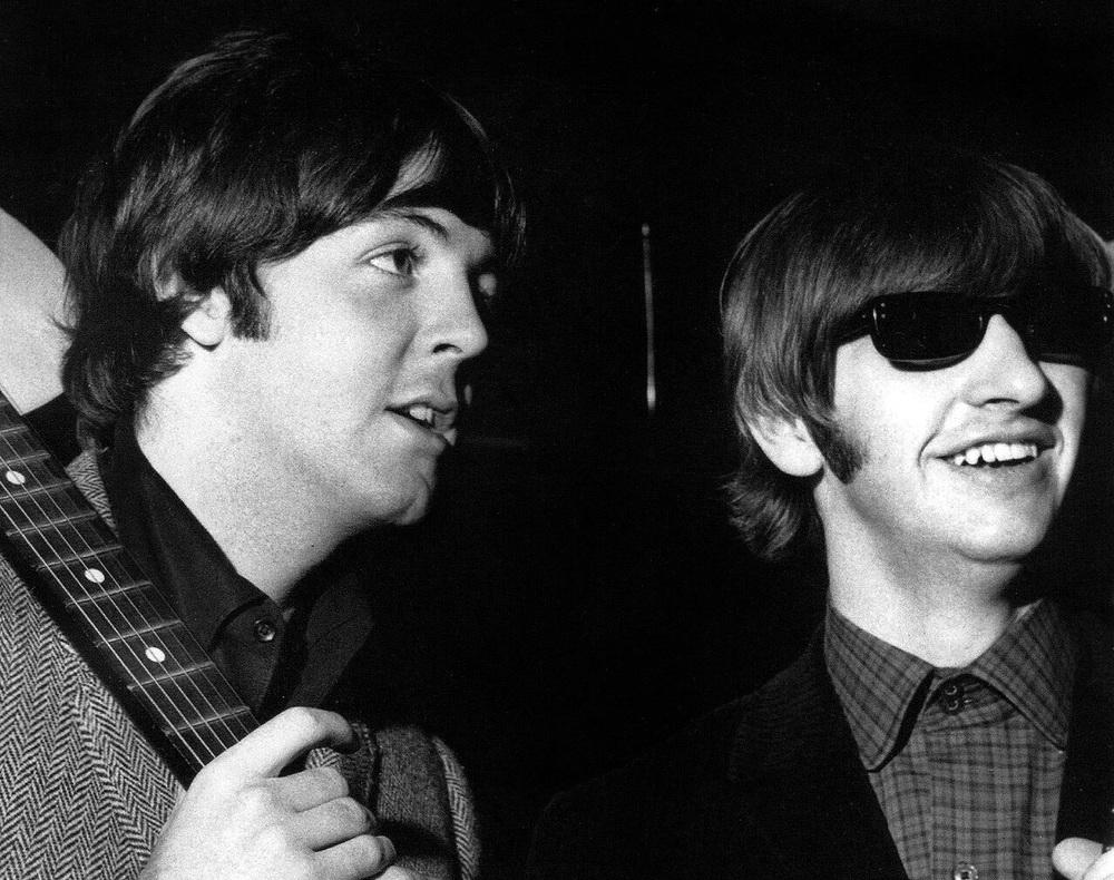 Paul McCartney and Ringo Starr, 1965.