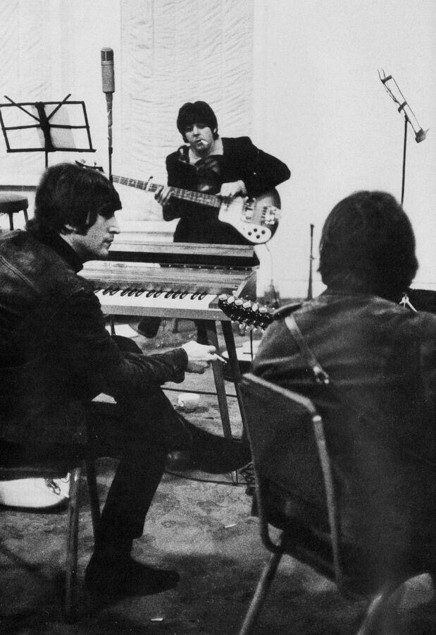 The Beatles at Abbey Road, 1965.
