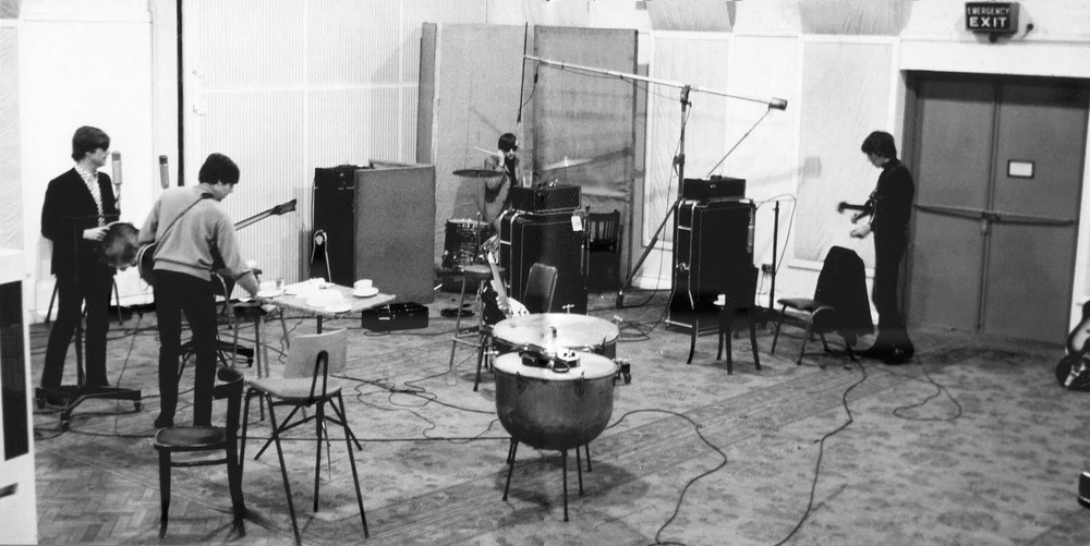 The Beatles recording Every Little Thing at Abbey Road, September 30th 1964.
