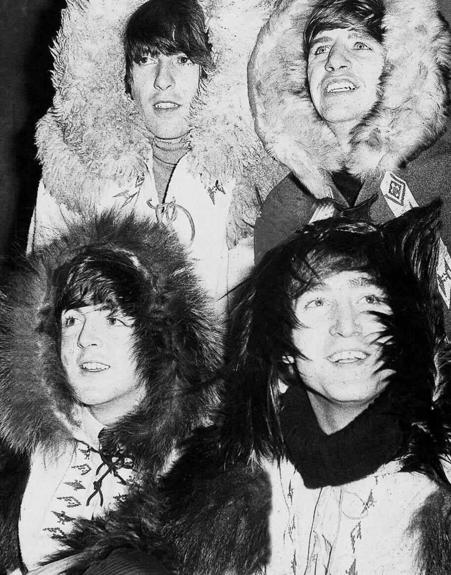 The Beatles photo shoot, 1965.