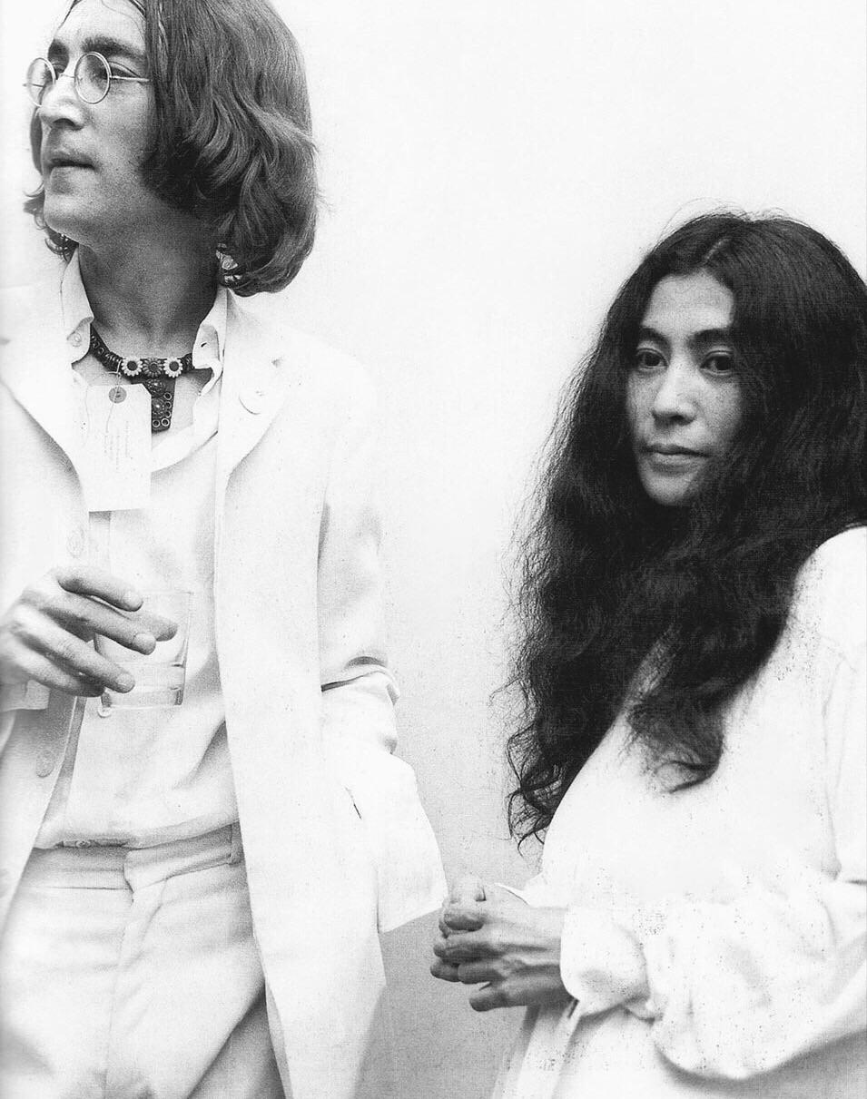 John Lennon and Yoko Ono, 1968.