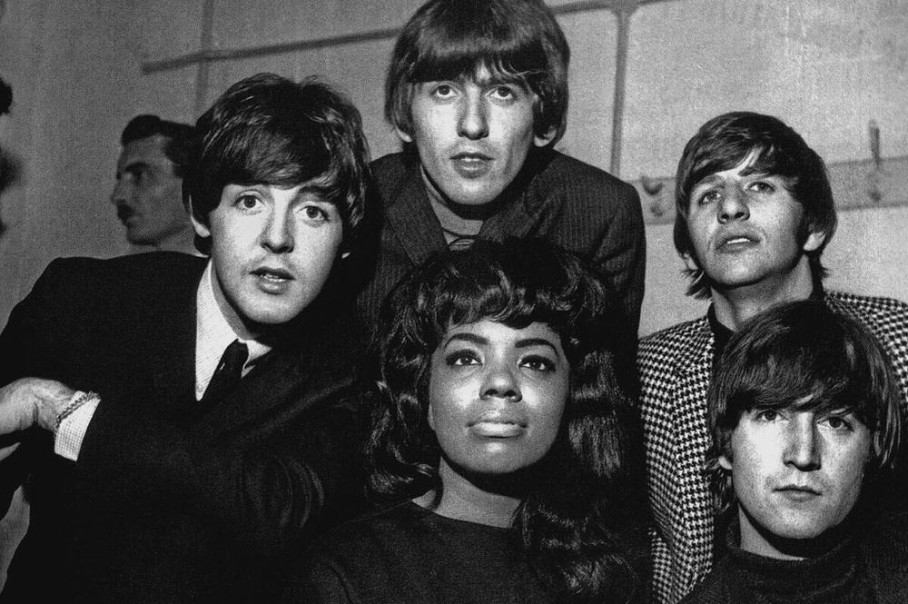 The Beatles with Mary Wells, 1964.