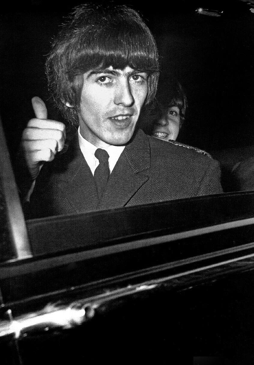 George Harrison and Paul McCartney, 1965.