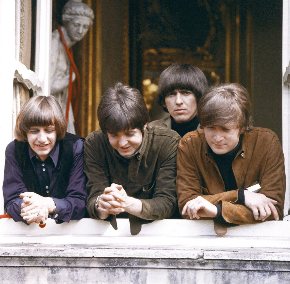 The Beatles filming Help! at Cliveden House, May 11th 1965.
