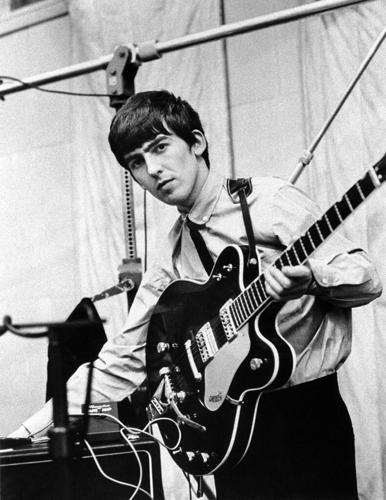George Harrison recording She Loves You, July 1st, 1963.