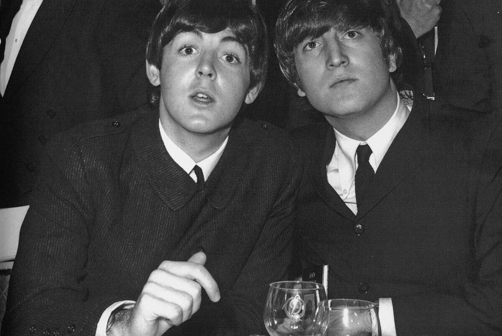 Paul McCartney and John Lennon, 1964.