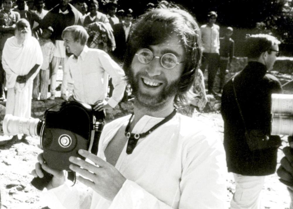 John Lennon in India, 1968.
