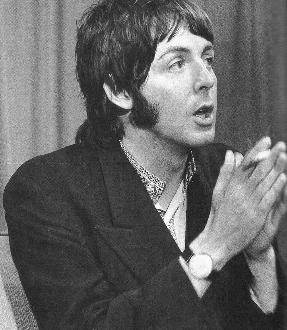 Paul McCartney, 1968.
