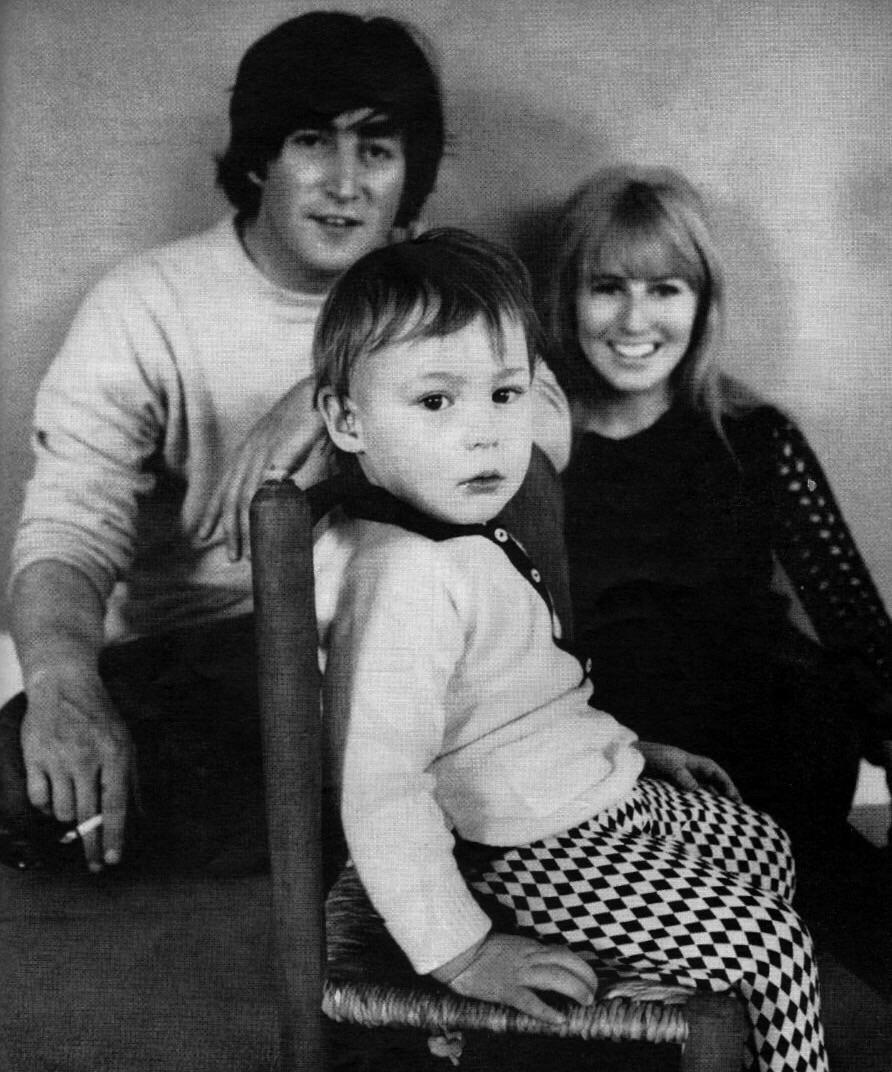 John and Cynthia Lennon with son Julian, 1965.