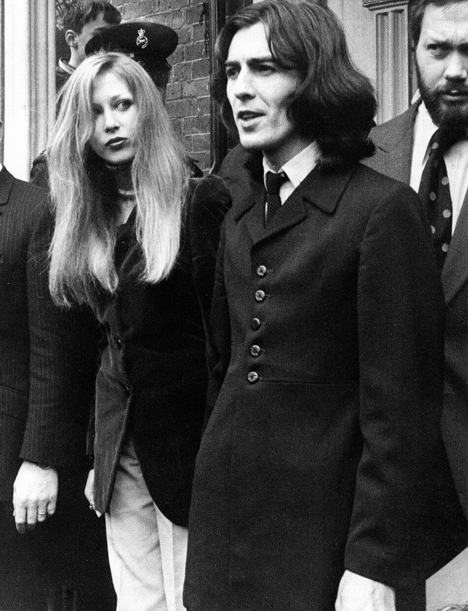 George Harrison with Pattie Boyd, 1969.