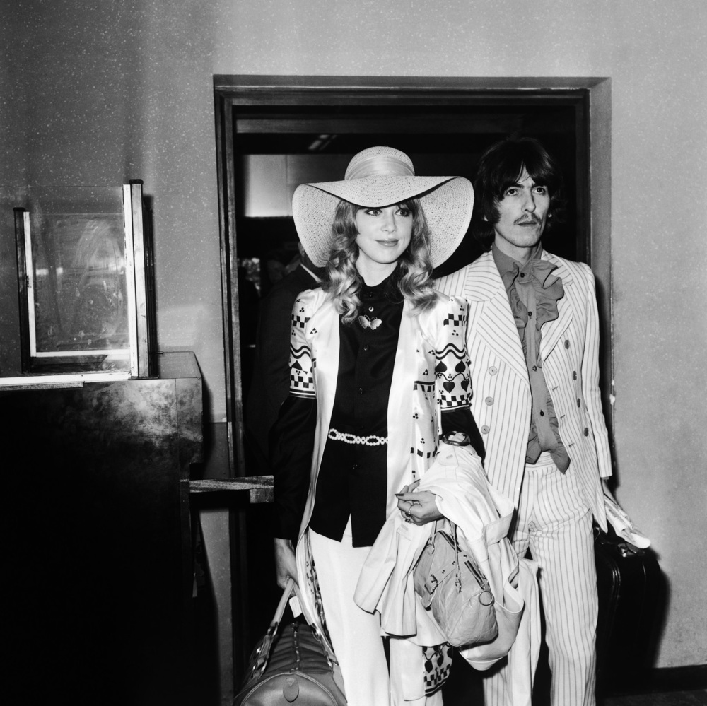 George Harrison with Pattie Boyd, 1968.