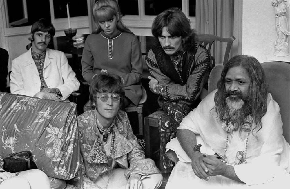 The Beatles with Maharishi Mahesh Yogi, August 1967.