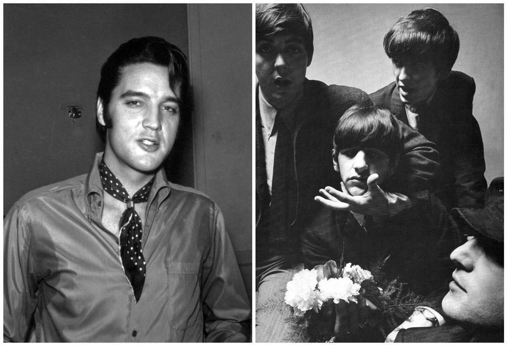 Elvis Presley and the Beatles, 1965.
