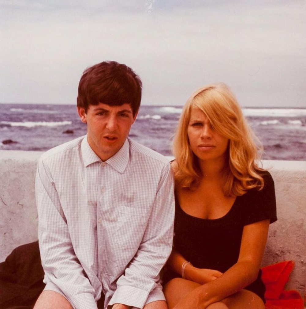Paul McCartney and Astrid Kirchherr in Tenerife, April 1963.