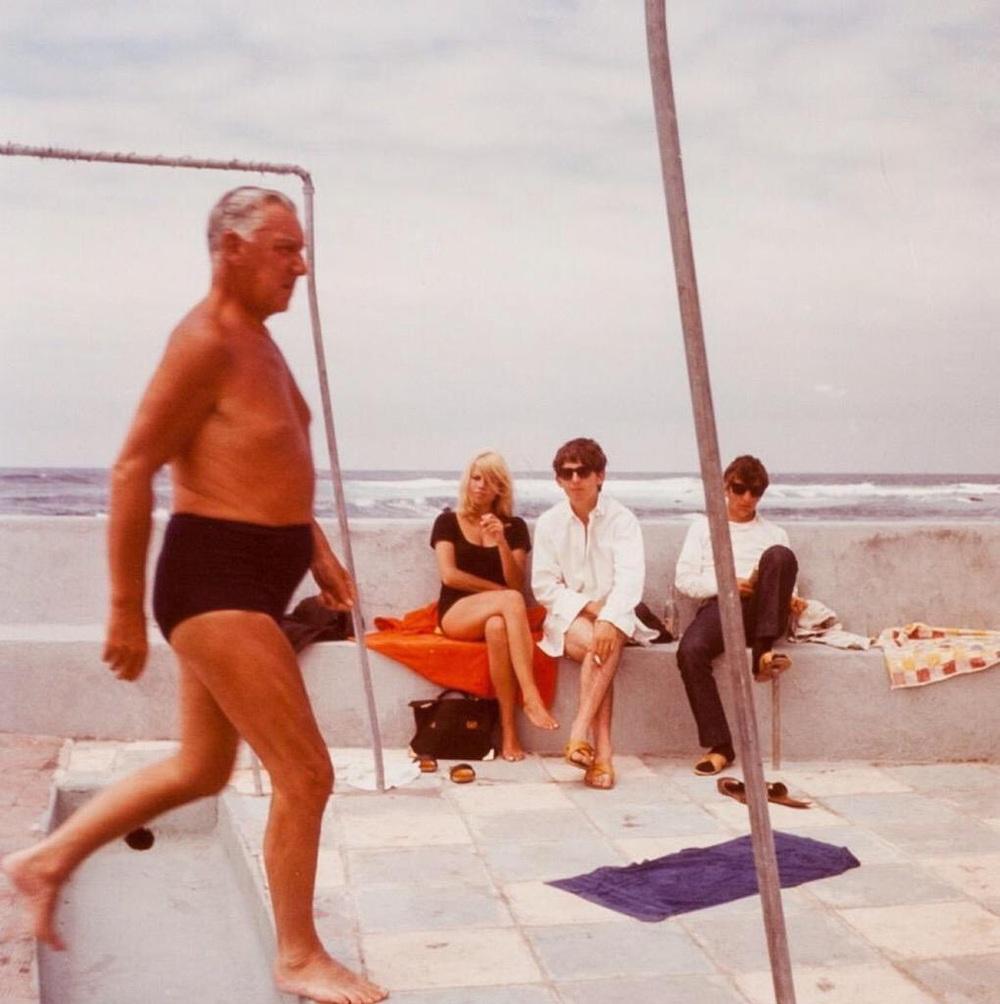 George Harrison, Ringo Starr and Astrid Kirchherr in Tenerife, April 1963.