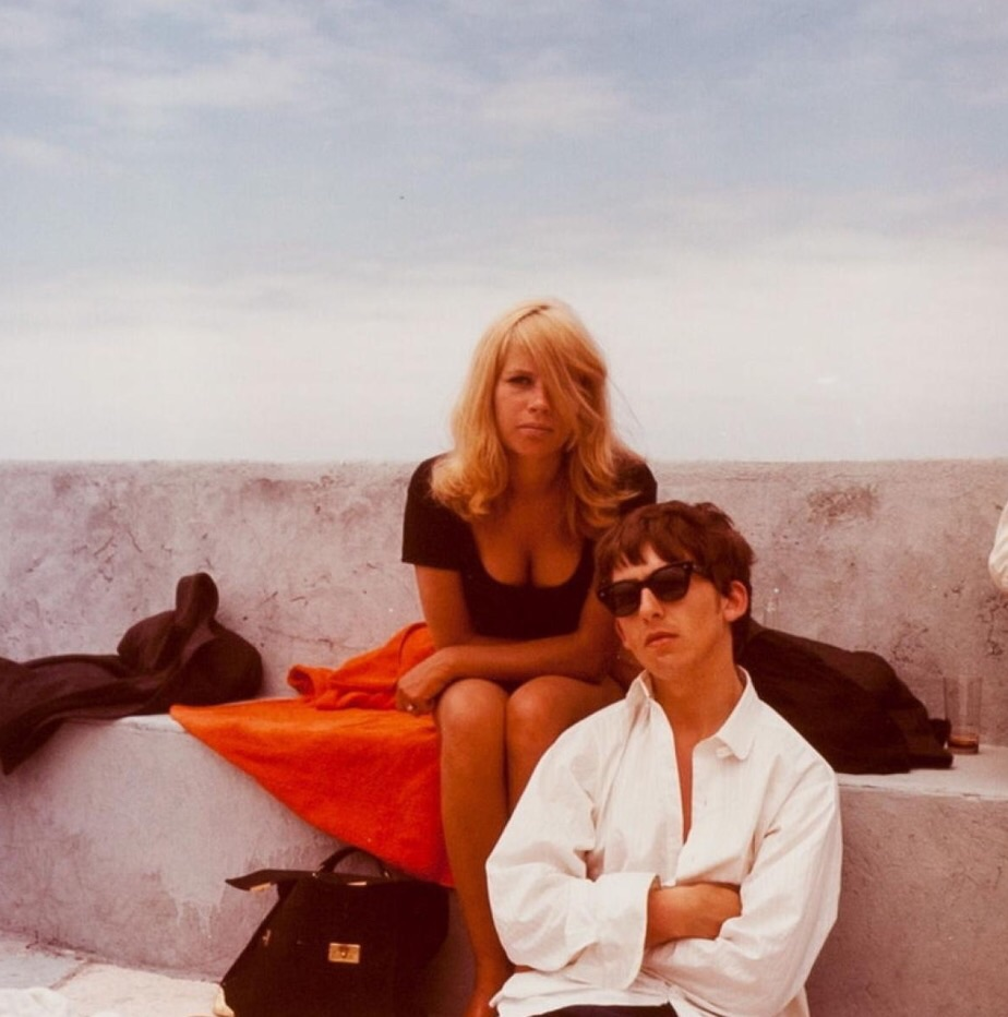 George Harrison and Astrid Kirchherr in Tenerife, April 1963.