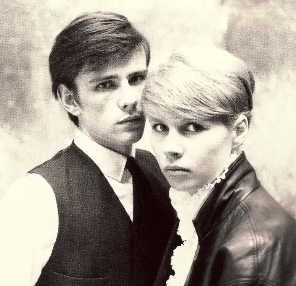 Stuart Sutcliffe with girlfriend Astrid Kirchherr, 1960.
