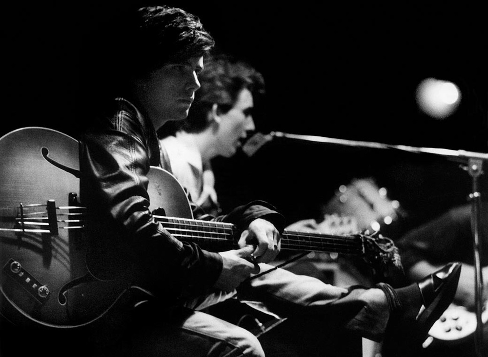 Stuart Sutcliffe in Hamburg with George Harrison, 1960.