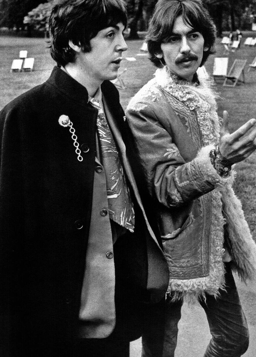 Paul McCartney and George Harrison, 1967.