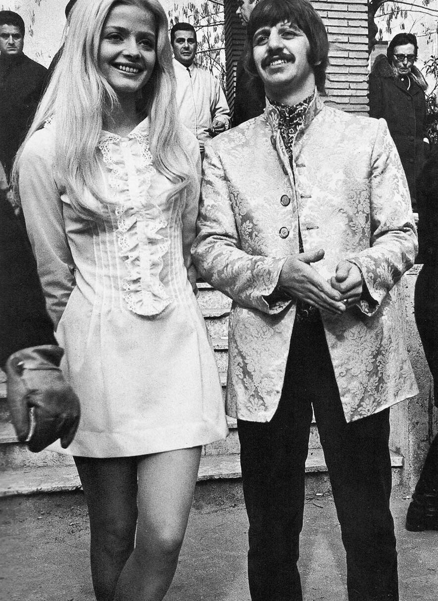 Ringo Starr with actress Ewa Aulin, 1967.