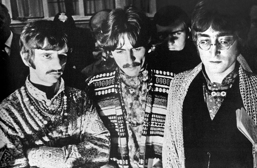 The Beatles reacting to the death of Brian Epstein, 1967.