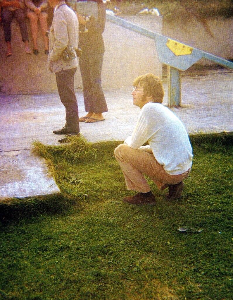 John Lennon on the set of Magical Mystery Tour, 1967.