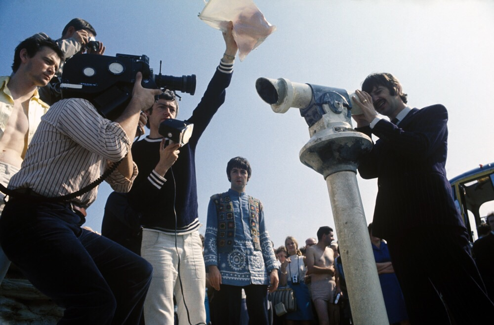 Ringo Starr and Paul McCartney on the set of Magical Mystery Tour, 1967.